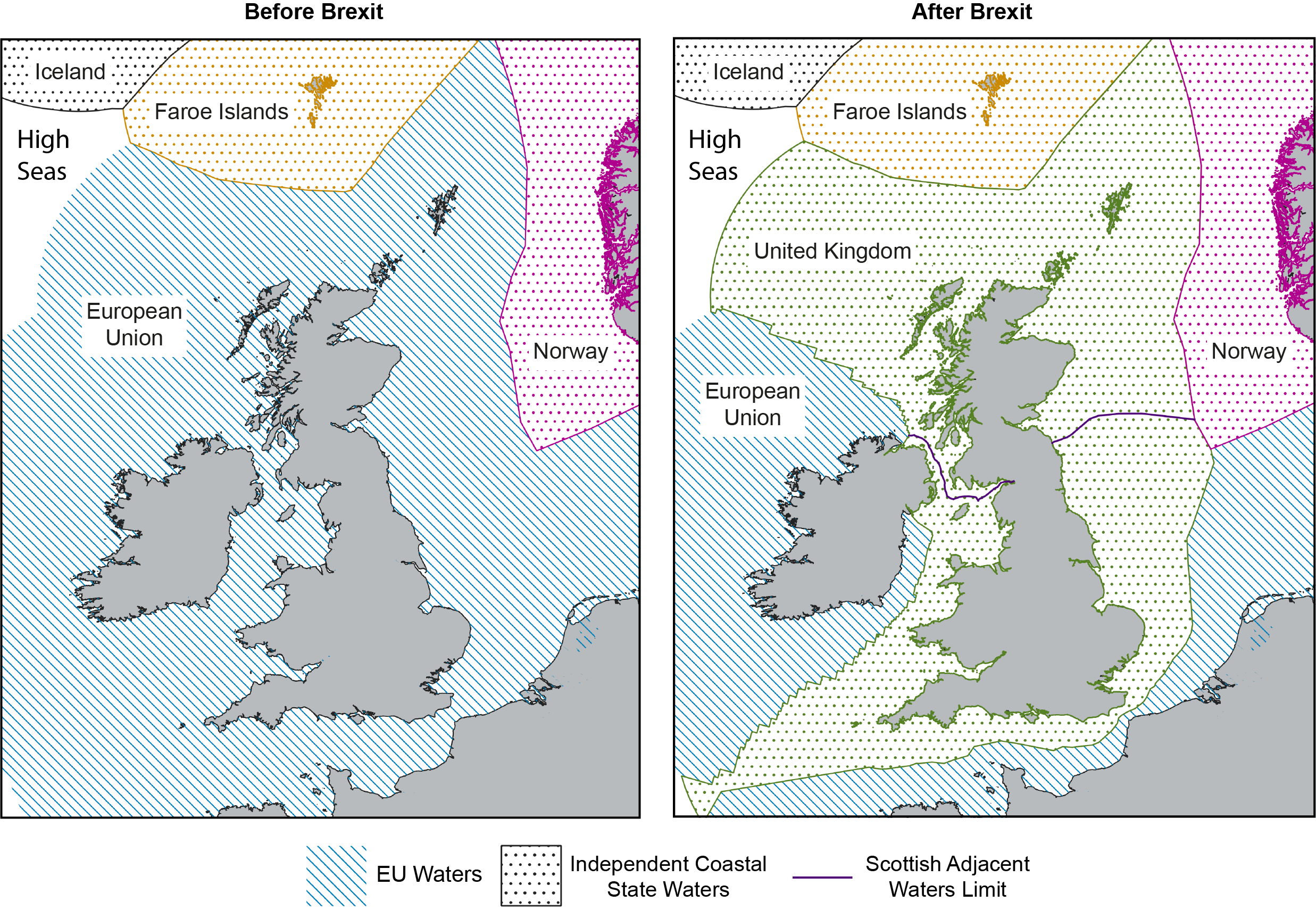 EU and UK Exclusive Economic Zone