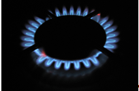 Image of a cooker gas ring for decorative purposes.