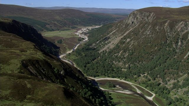 Glenfeshie, located in the Cairngorms National Park, is an example of a shift from a deer oriented estate to a rewilding project promoting natural woodland regeneration