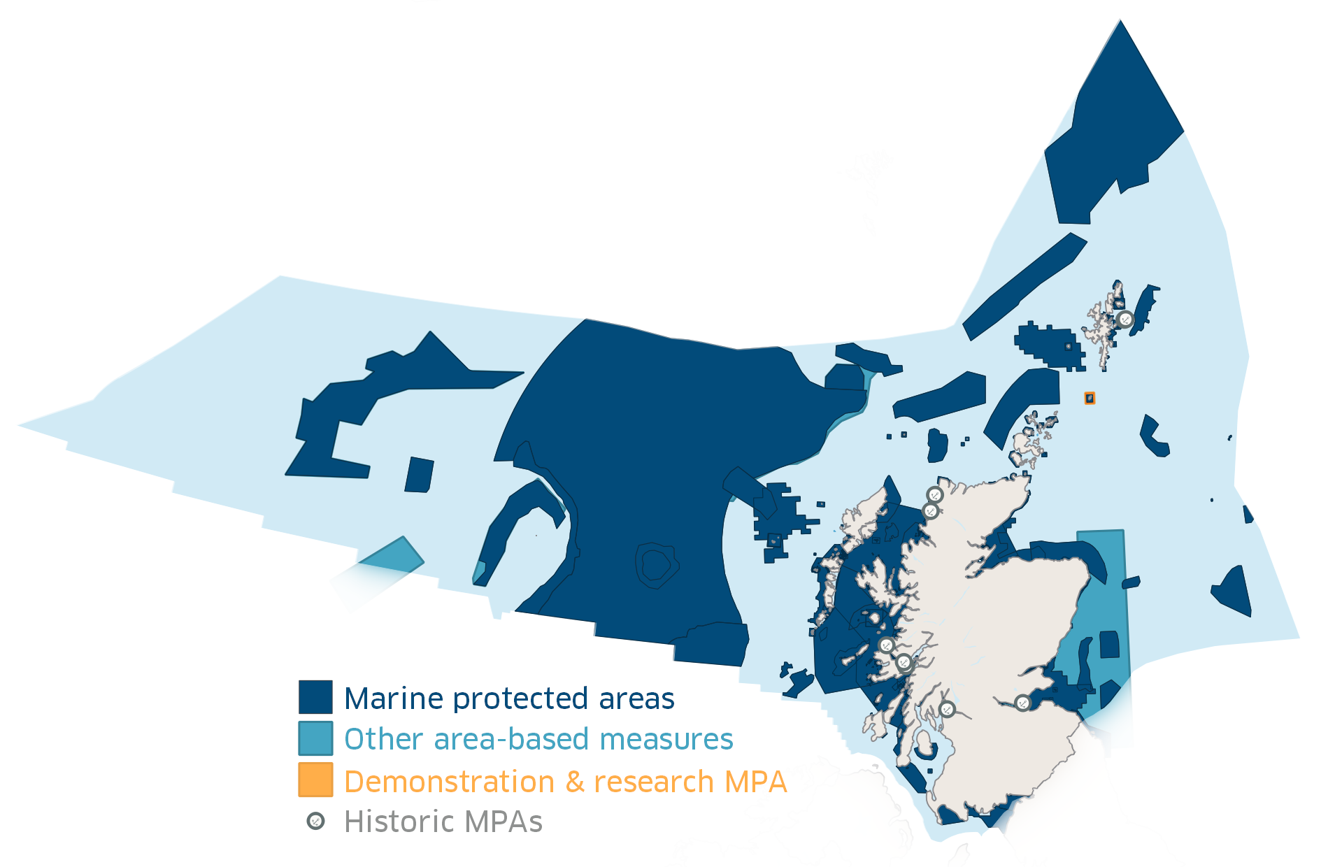 Map showing the Scottish Marine Protected Area network