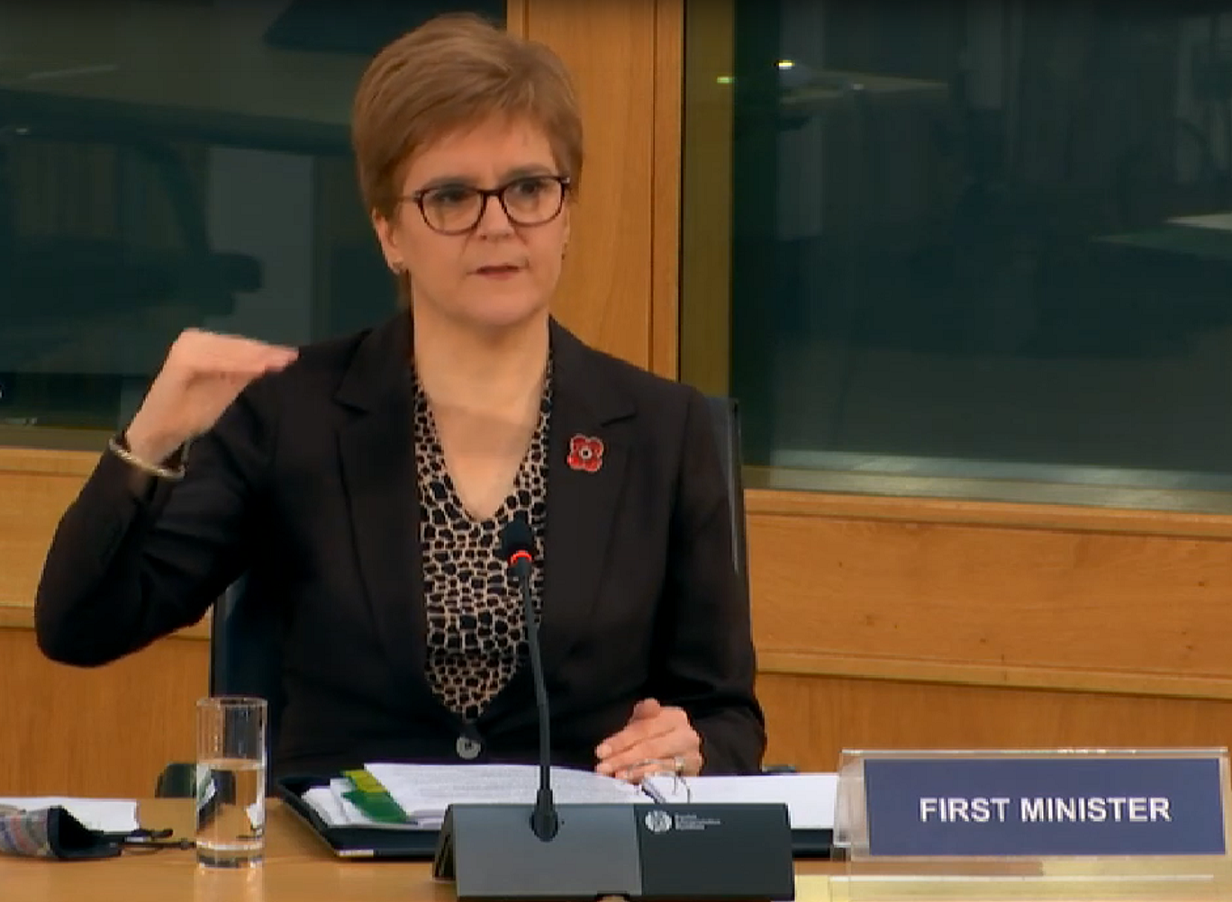 First Minister giving evidence to the COVID-19 Committee