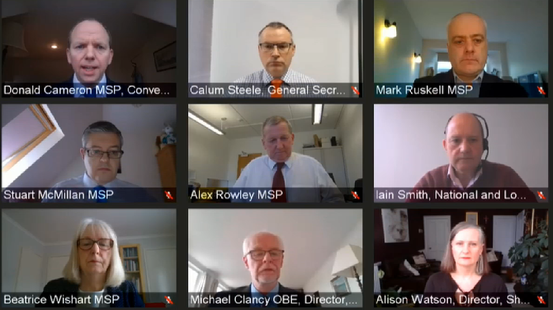 Witnesses giving evidence to the COVID-19 Committee on the Scottish Government's emergency powers to respond to COVID-19.