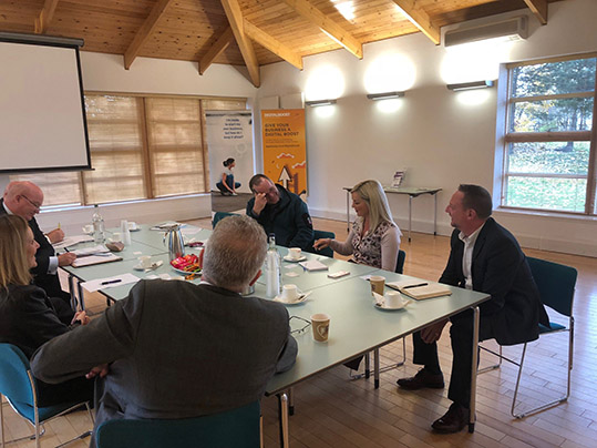 Andy Wightman, Colin Beattie, John Mason and Gordon MacDonald attended a meeting at Lanarkshire Enterprise Services Ltd