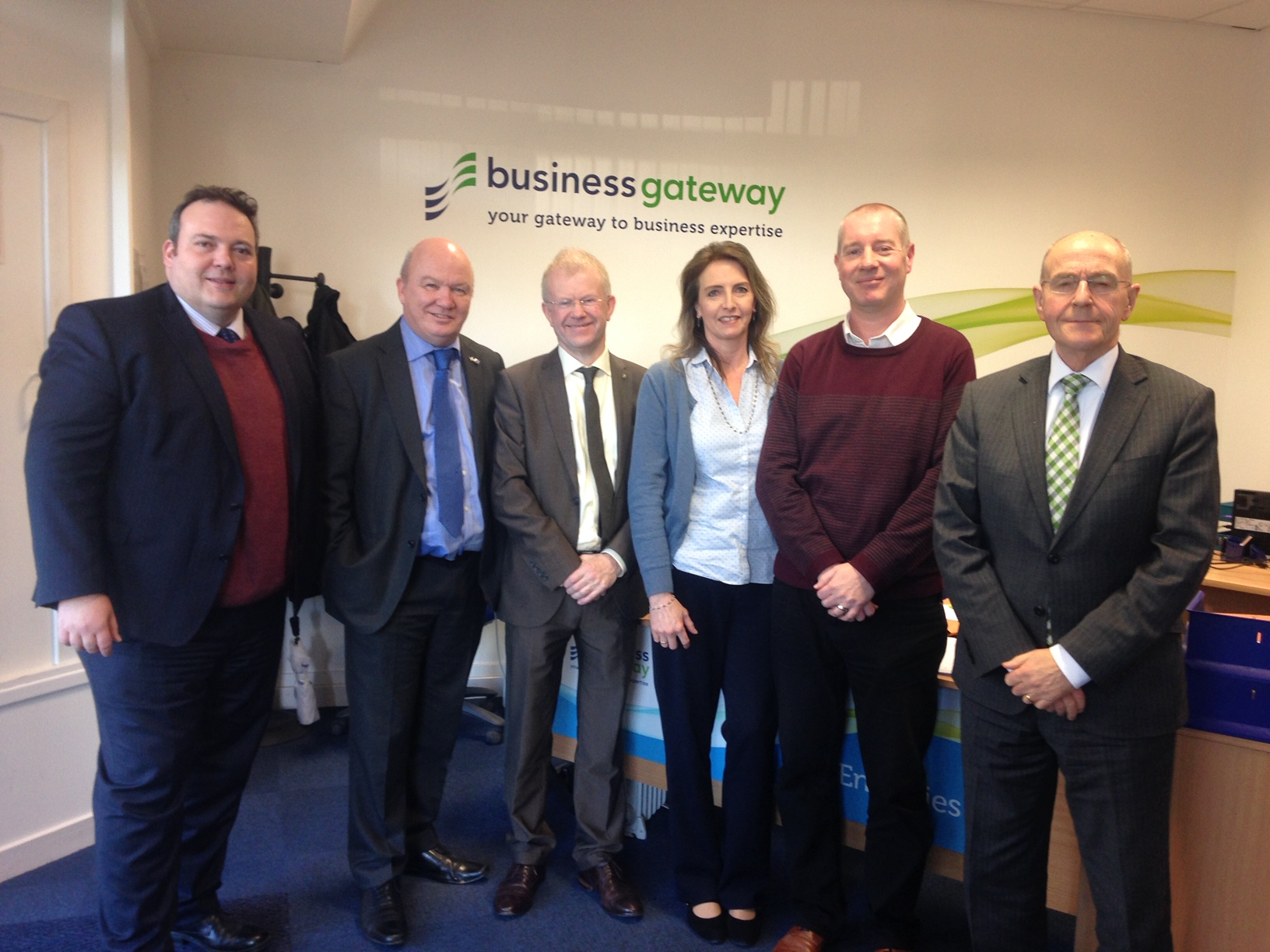Jamie Halcro Johnston, John Mason and Gordon MacDonald visited Business Gateway Inverness as part of the Committee's Highland visit