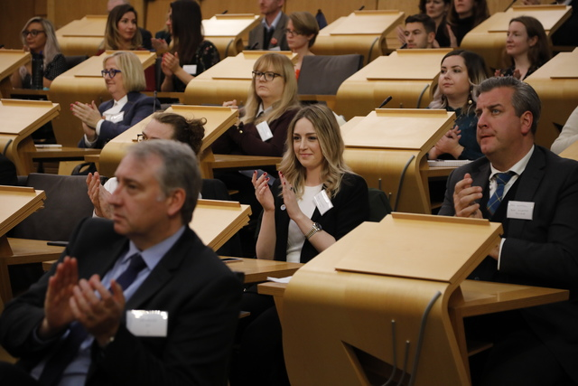Over 200 representatives from Scottish business attended.