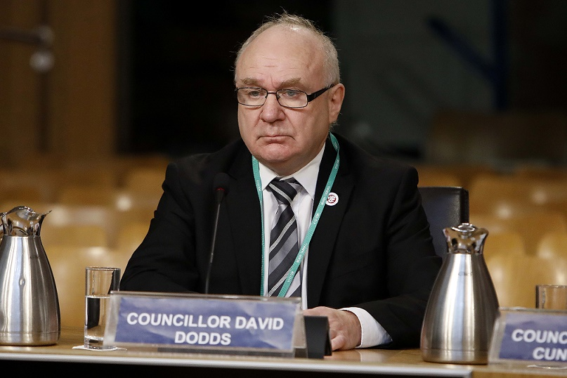 Councillor David Dodds of West Lothian Council giving evidence to the Education and Skills Committee