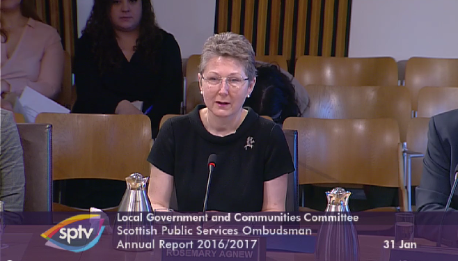 Rosemary Agnew, Scottish Public Services Ombudsman gives evidence to the Committee