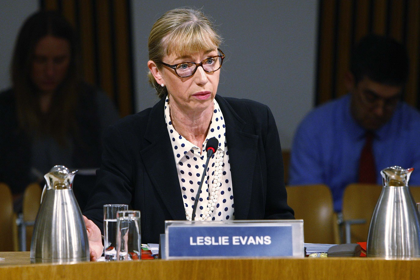 Permanent Secretary Leslie Evans giving evidence to the Committee