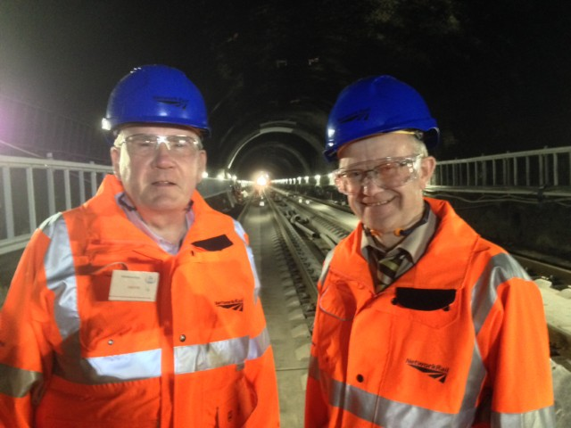 Richard Lyle and John Mason at Queen Street Tunnel