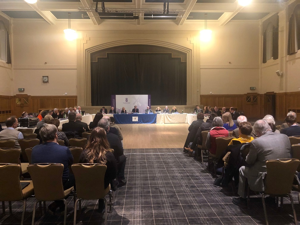 Evidence session in the Easterbrook Hall, Dumfries on Monday 14 January 2019