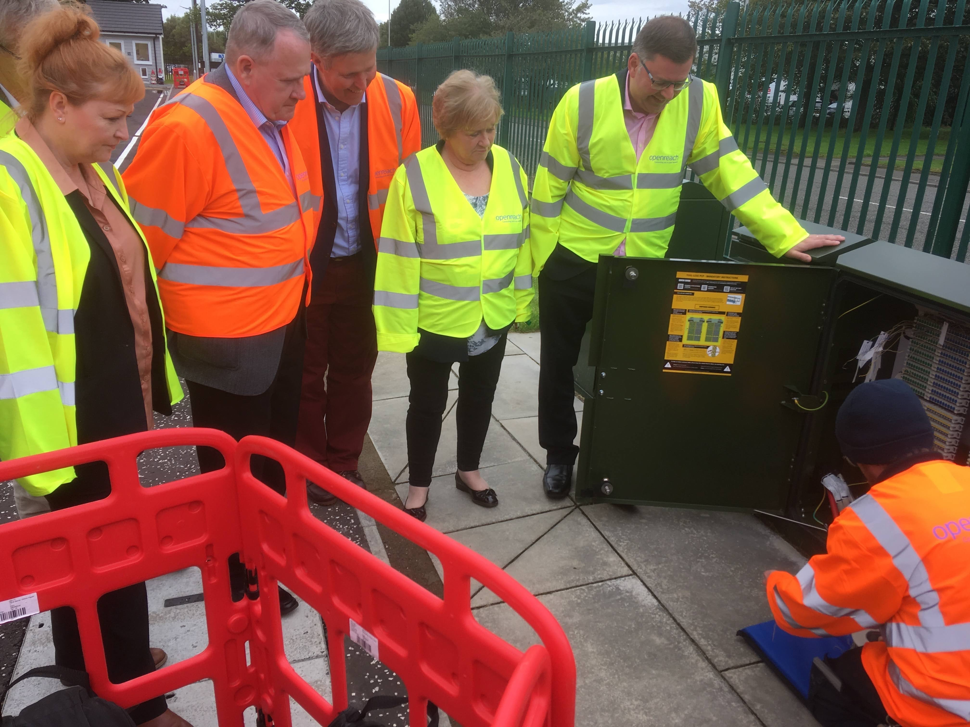 Photo of REC Committee visit to BT Openreach training school in September 2019