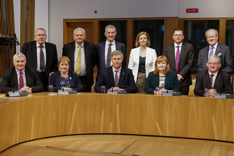 Photo of Rural Economy and Connectivity Committee members March 2020.