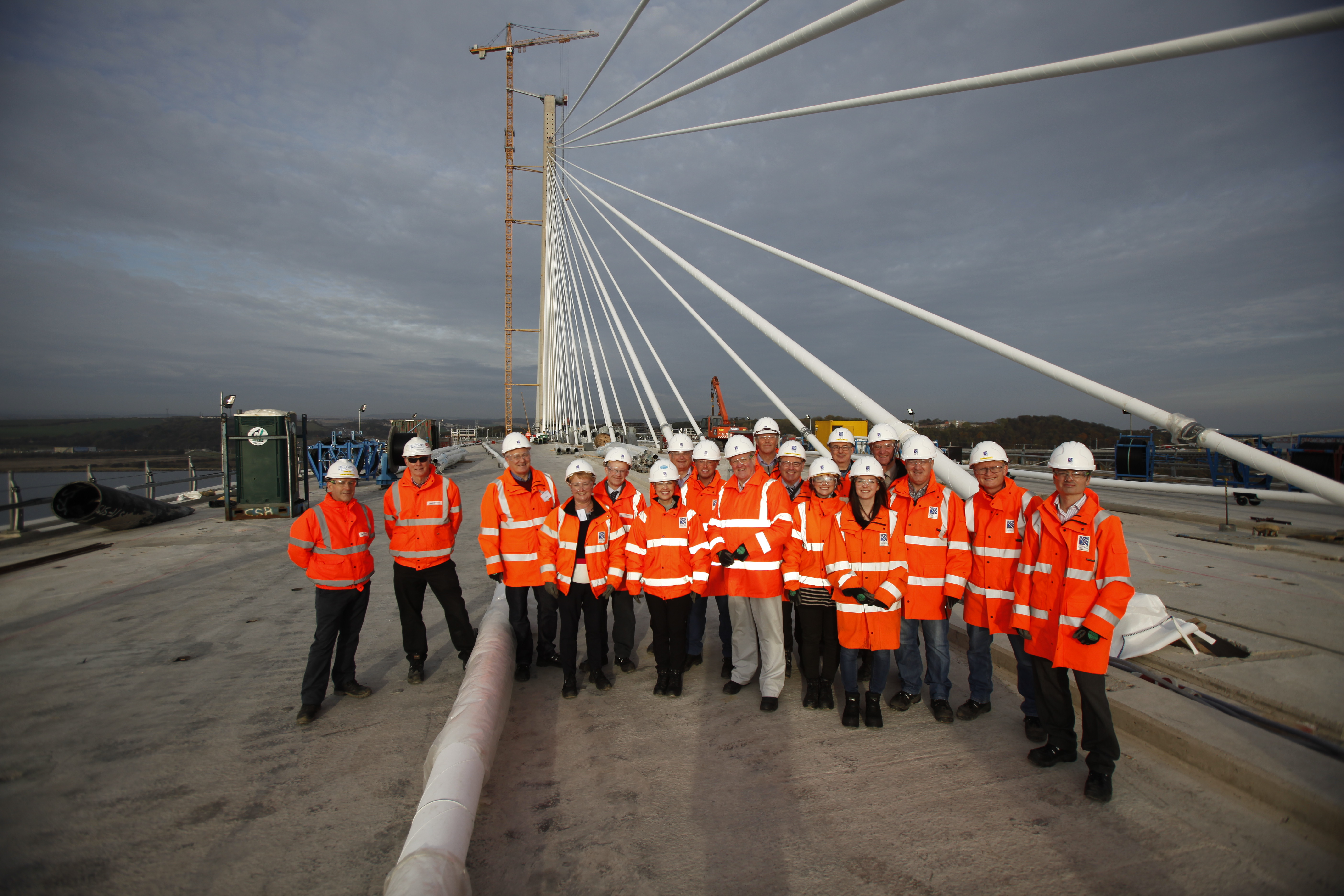 REC Committee visit to the Forth Replacement Crossing during construction